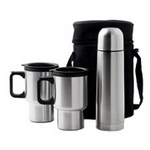 2x Mugs and Vacuum Flask, Beverage Gear